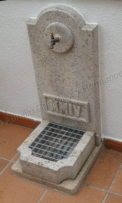 Fuentes de pared fuentes de pared en cantera rosa con bomba fuente pared len fuentes de jardn - Fuentes de pared de piedra ...