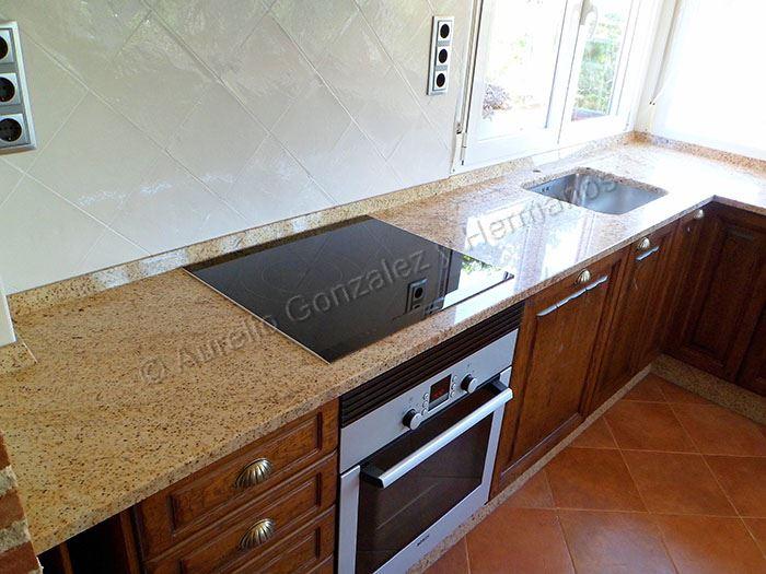 Encimera marmol procura que paredes y encimera combinen cocina con encimera de mrmol y maderas - Encimera marmol ...